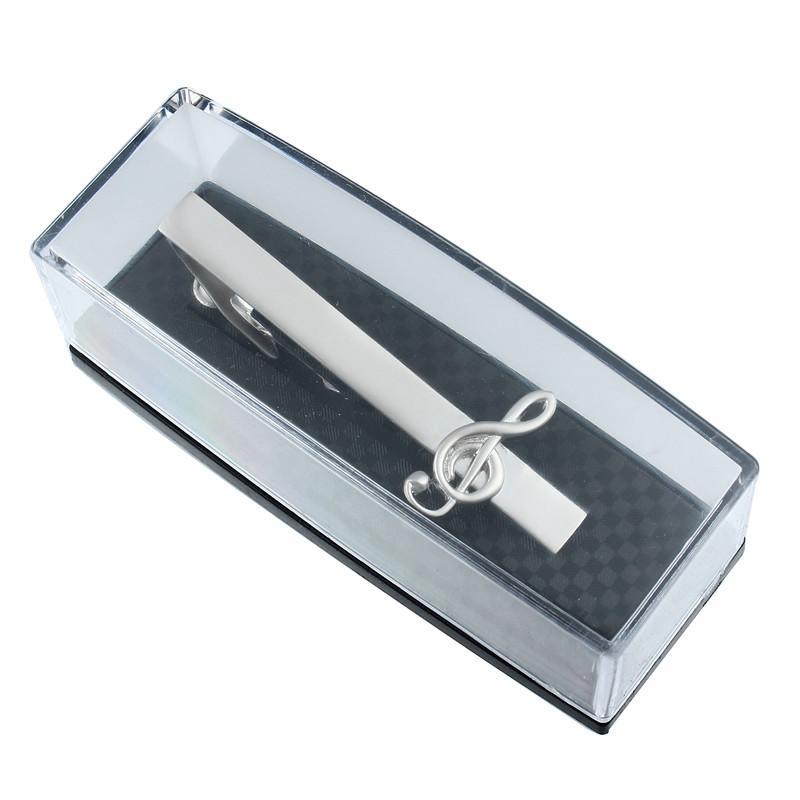 Горячие продажи музыка галстук клип с коробкой матовый галстук Pin бар Застежка музыкальный символ аксессуар подарок для партии