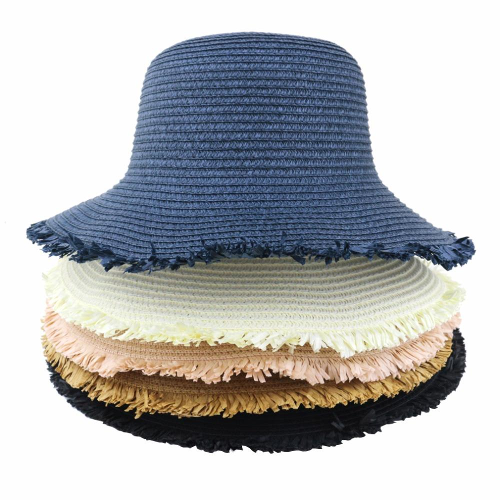 7abc6bfc Womens Sun Hat Foldable Straw Hat UPF 50 Protection Anti-UV for ...