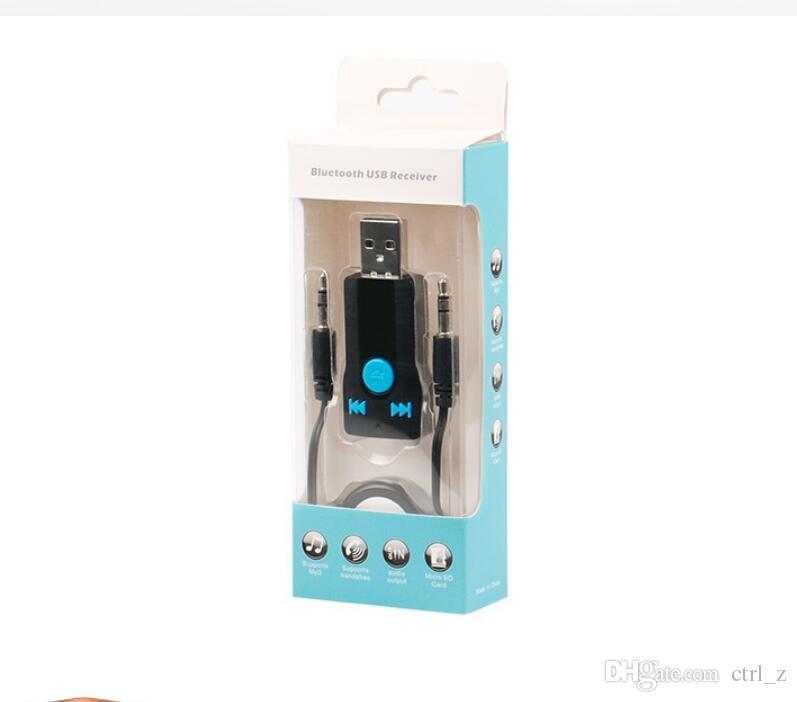 BC07 Nova Porta USB 3.5mm Car Receptor de Música de Áudio Bluetooth jogar com AUX Apoio TF cartão mp3 Telefonema música tocar