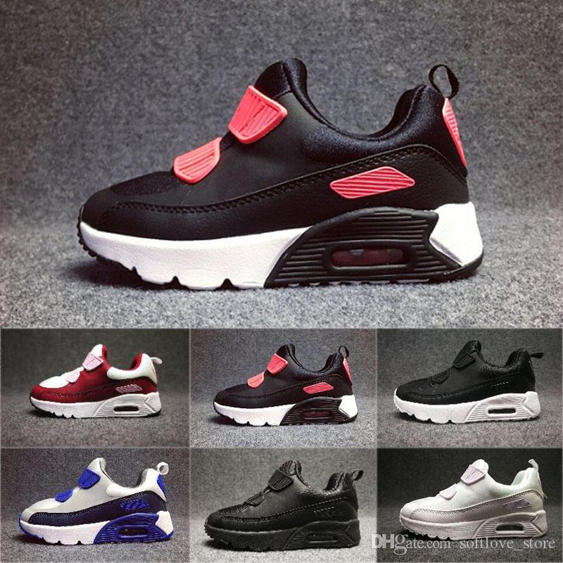 buy online 683e3 8aa69 Großhandel 2018 Nike Air Max 90 Infant Baby Boy Mädchen Kinder Jugend  Kinder 350 Schuhe Boost Laufschuhe Sportschuhe Pirate Black Classic 90  Sneakers Eur 28 ...
