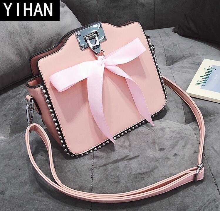 Factory Brand Women Bag New Bow Tie Ribbon Women s Single Shoulder ... e8026afba62a1
