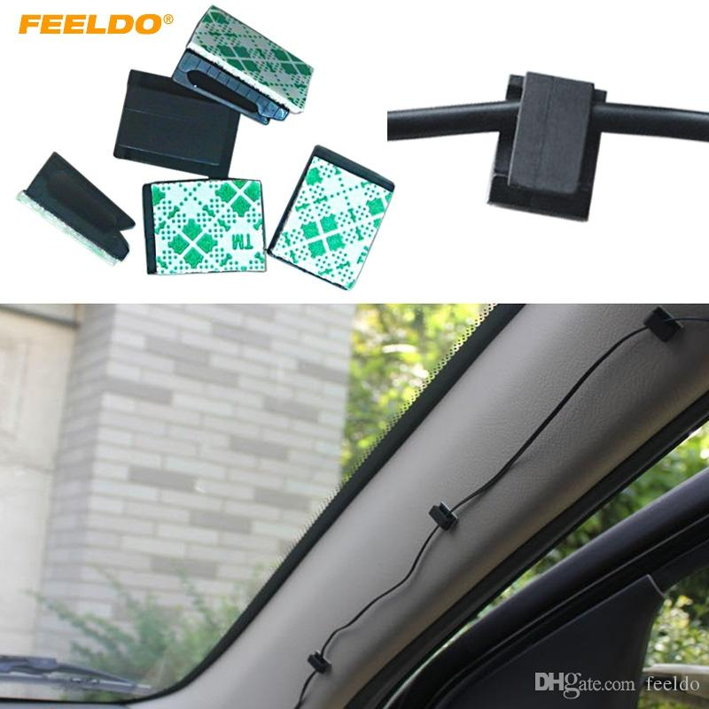20PCS Self Adhesive Wire Cable Cord Clip Clamp Holder For Car Dash Camera Parts