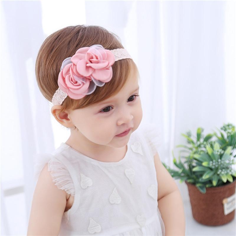 Großhandel Rosa Rose Stirnband Baby Mädchen Spitze Blume Crown ...