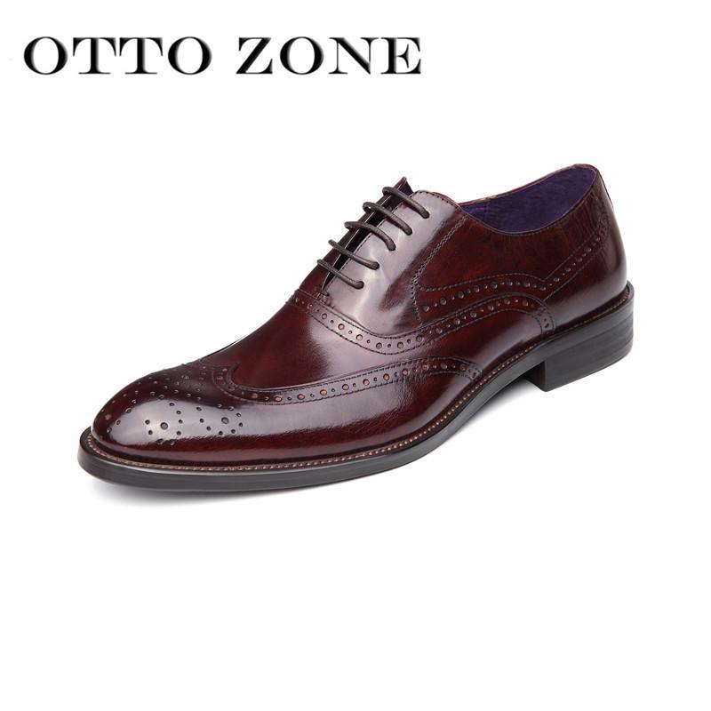 Großhandel Otto Männer Schuhe Handmade Oxford Retro Schuhe