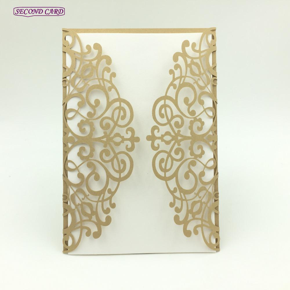 Grosshandel 10 Teile Los Laser Cut Hochzeitseinladungskarte