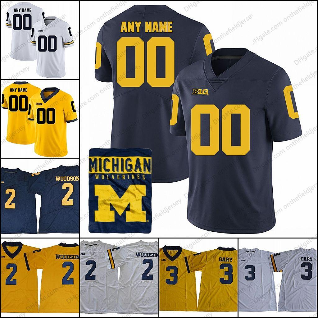 meet 0aa57 429a4 Custom Michigan Wolverines College Football Jerseys Any Name Number #2  Charles Woodson 2 Shea Patterson 3 Rashan Gary 4 Jim Harbaugh S-3XL