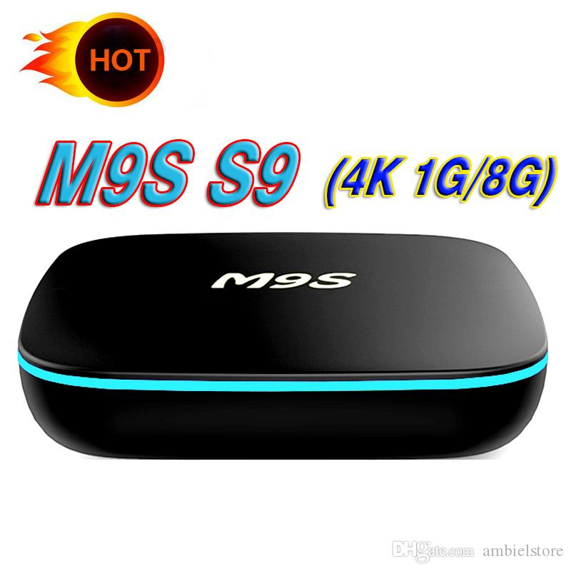 Hot OEM Caixa de TV Android 7.1 M9S S9 Android inteligente Ott TV Streaming Box 4 K WIFI melhor do que S905W TX3-mini X96 T95M