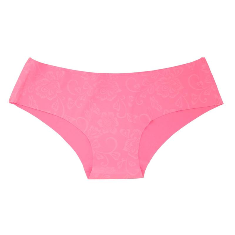 Hot Sale Seamless Briefs Everyday Underwear Women Panties Traceless Raw-cut Hipster Pink Briefs intimate 2018