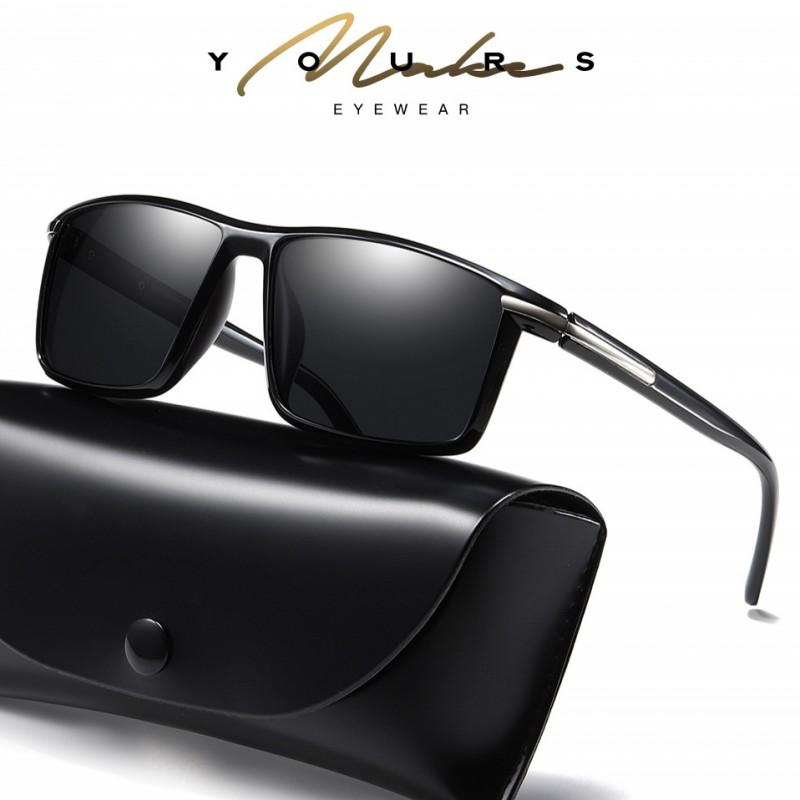 b987638bd68 HDSUNFLY Men Polarized Sunglasses TR90 Square Frame Vintage Shades Male  Eyewear Driving Sun Glasses For Men Women UV400 Prescription Sunglasses  Glasses ...