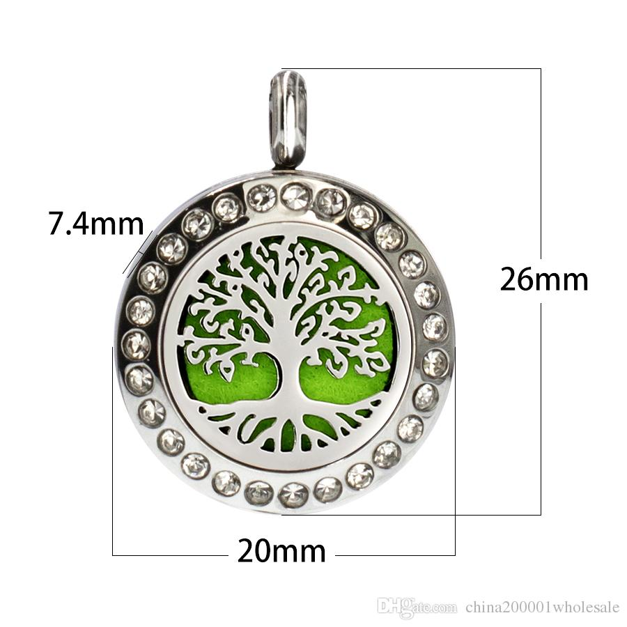 Fish Cross Perfume Diffuser 316L Stainless Steel 20mm Aromatherapy Locket Pendant fit for necklace10p free pads