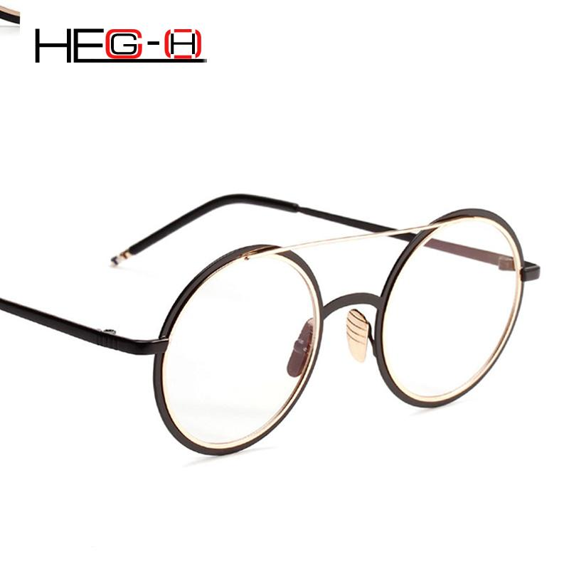 208cfc1bf13 2019 HEG H Women Glasses Frame Computer Eyeglasses Round Frame Glasses With Clear  Lenses Eyeglasses Designer Lunettes Rondes H081 From Watercup