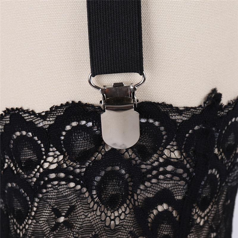 Harajuku Goth Frauen Bein Cage Strumpfband Schwarz Strumpf Suspender Gürtel Socke Elastische Oberschenkel Bondage Körper Harness Dessous Braut Strumpfband