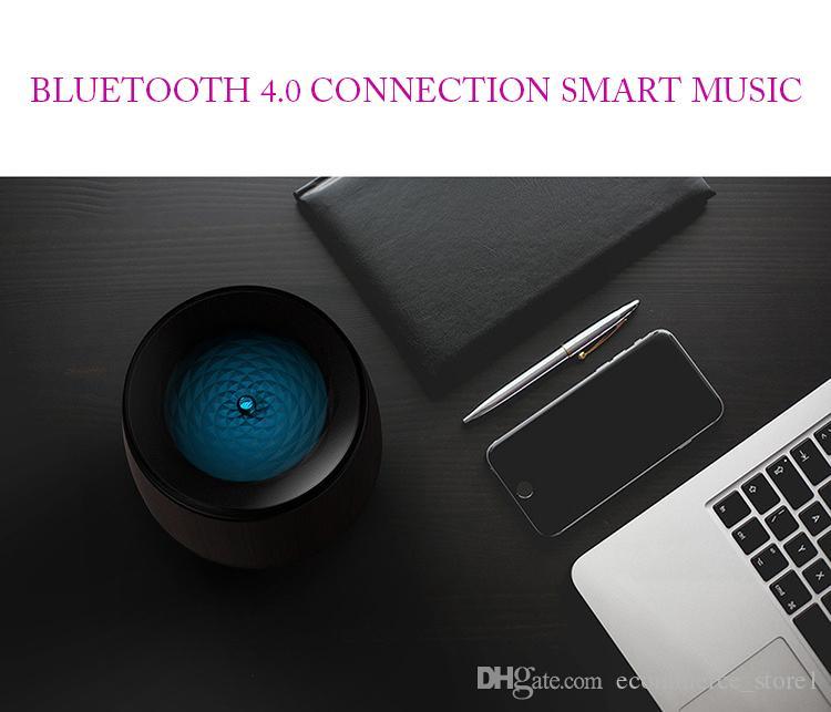 블루투스 스피커 아로마 테라피 에센셜 오일 디퓨저 초음파 쿨 안개 가습기 스피커 음악 플레이어 4 색 LED 램프