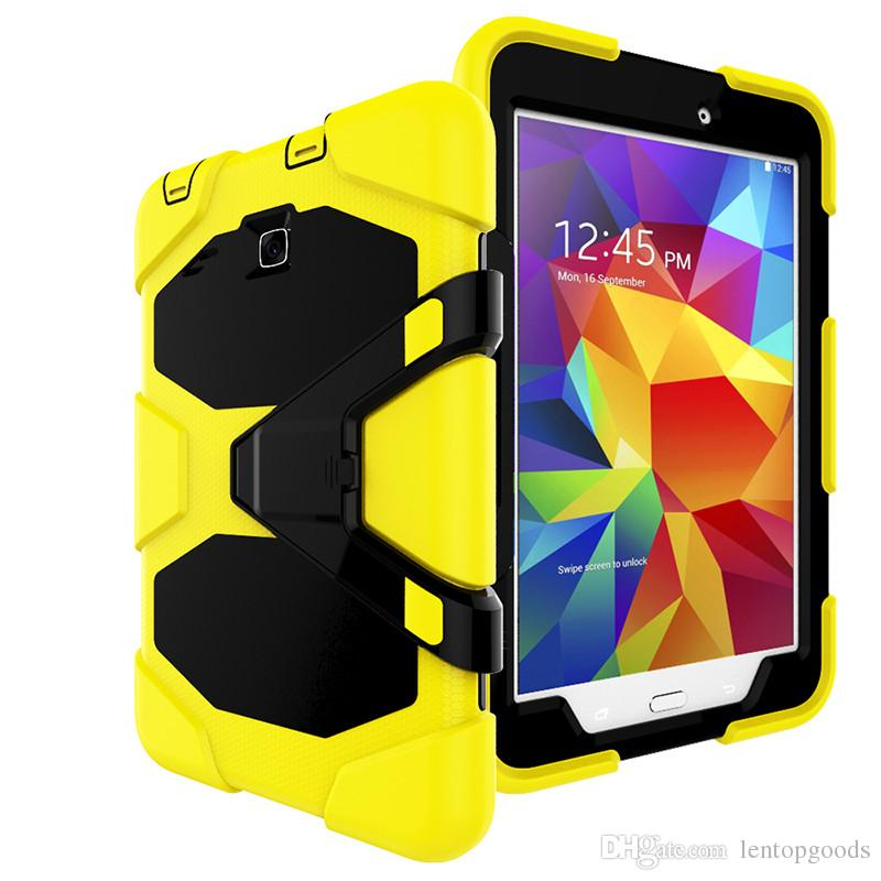 3 in 1 Shockproof Silicone Case with Kickstand for Samsung Galaxy Tab E 8.0 T377 SM-T377V Tablet