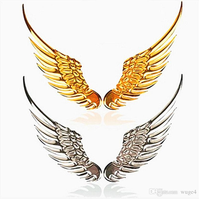 Car Styling Fashion Metal Stickers 3d Wings Car Sticker Car