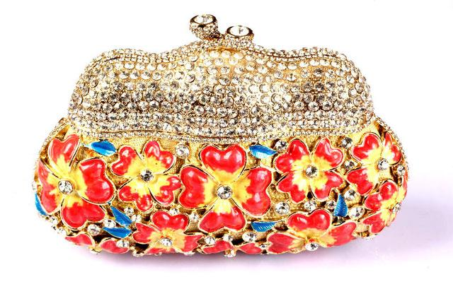 Floral Red Branded Clutches Online Shopping Beautiful Designer Clutch  Handbags For Women Inexpensive Occasion Crystal Clutch Crossbody Bags  Messenger Bags ... 25e24d5feb