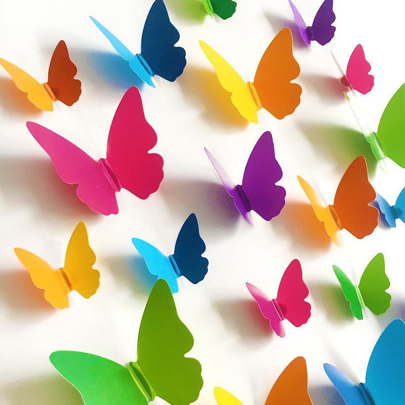 PVC 3D Butterfly Wall Decor Cute Butterflies Wall Stickers Art Decals Home  Decoration Pegatinas De Pared Letter Wall Stickers Love Wall Decals From  Roberte, ...