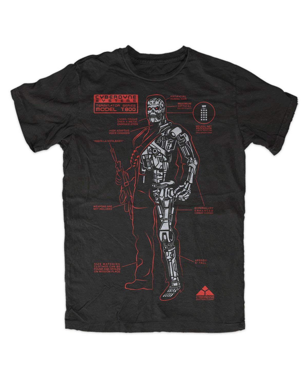 Terminator T800 Premium T Shirt Arnold Schwarzenegger John Conner