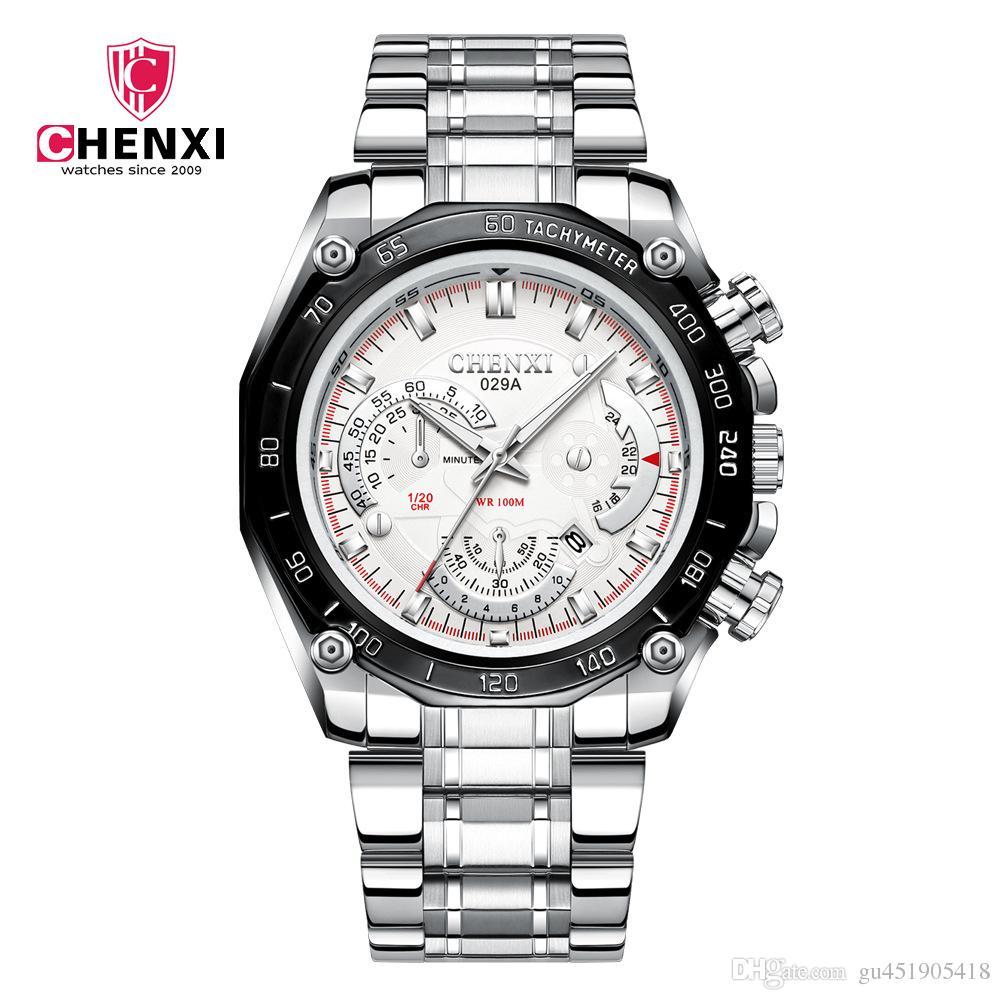 90f8f14f753 CHENXI 029A Men Watches Brand Luxury Quartz Watch Full Steel Man ...
