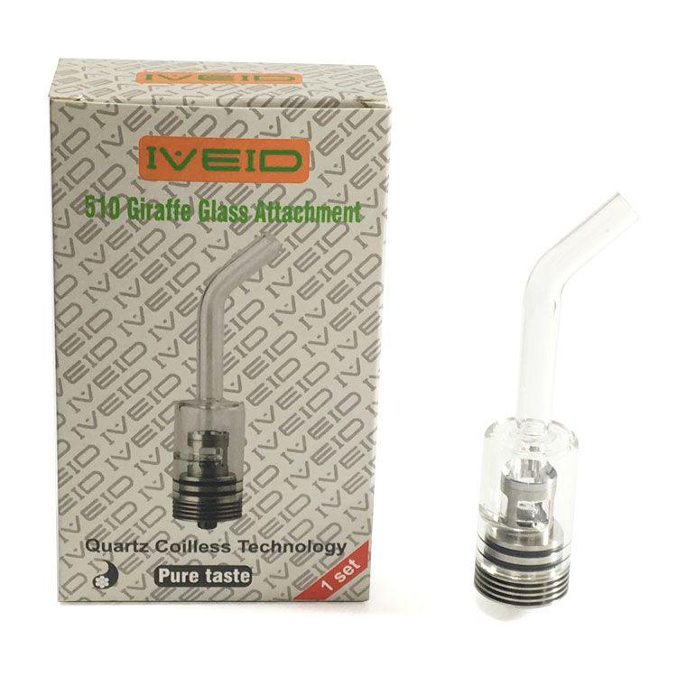 2018 Newest 510 Giraffe Glass Attachment Quartz Coilless Technologh Electric Dabber Atomizer Wax Atomizer Oil Rigs e Nail Large Vaporizer