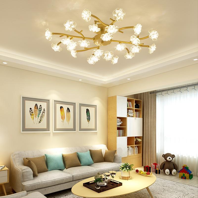 Compre Nordic Lâmpada Do Teto Led Atmosfera Simples Moderna Sala
