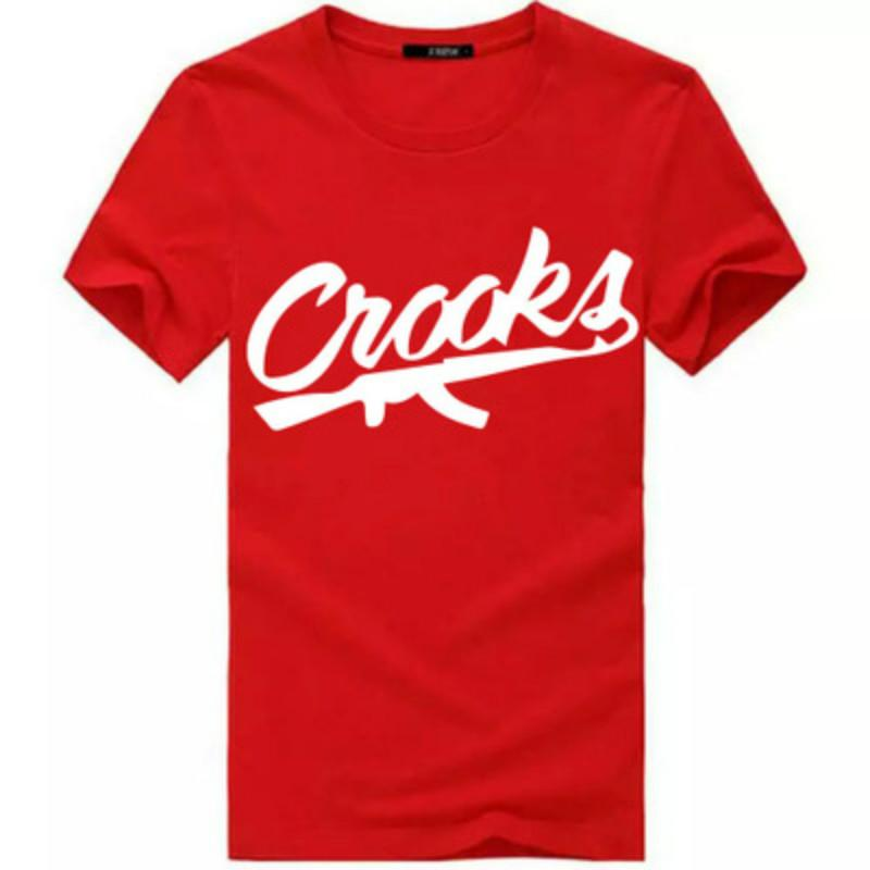 Crooks and Castles T Shirts Men Short Sleeve Cotton Fashion Man T-Shirt CROOKS Letter Male T Shirt Tops Tee Shirt S-3XL