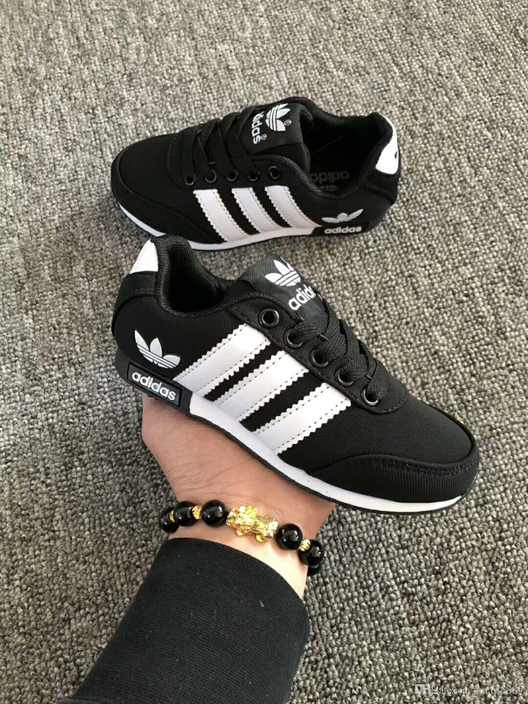 80af1c5fd9ea0 Hot Sale New Sport Running Shoes Three Bars Superstar Casual Flat ...