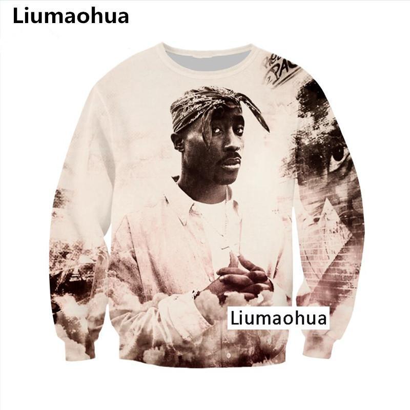 b6aab7a01988 2019 Liumaohua Newest Makaveli Tupac 2pac Rapper 3D Print Sweatshirt ...
