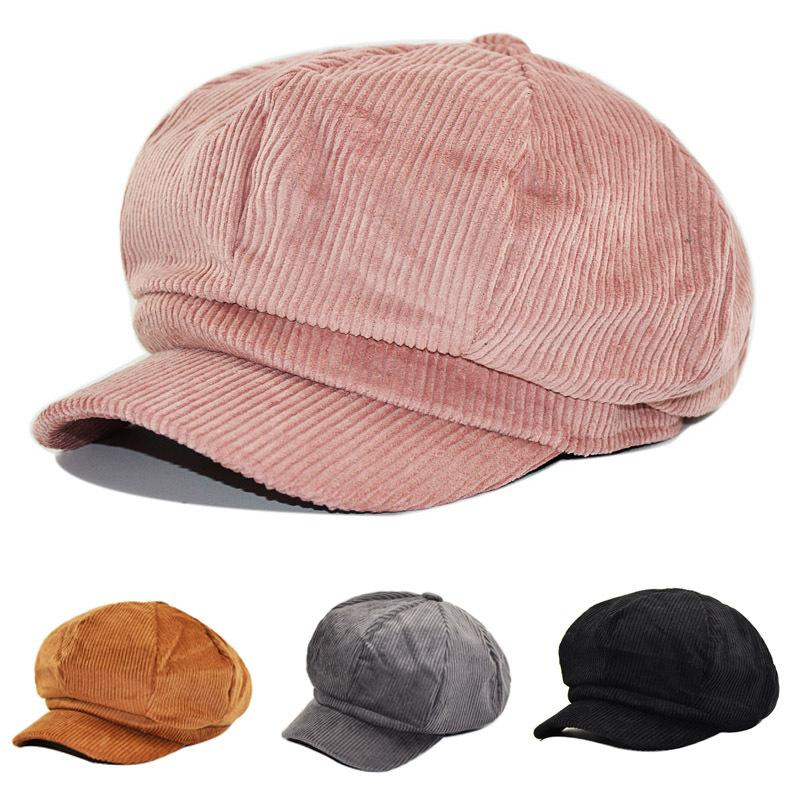 23ad2e2aa4cf4b 2019 2018 Autumn Winter New Hot Fashion Women Casual Simple Vintage Warm  Berets Female Corduroy Solid Color Painter Caps Hats From Naughtie, $38.5    DHgate.