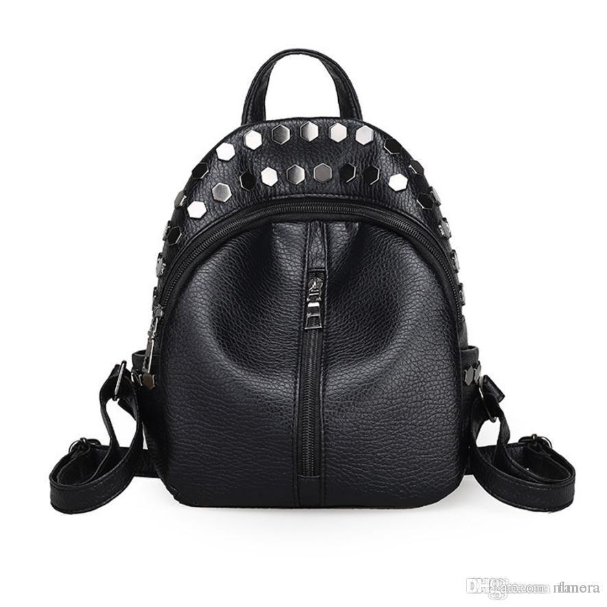 Wholesale Best Gift Women Fashion Rivet Travel Satchel School Bag Backpack  12122 Drop Shipping Wholesale Backpacking Backpacks Personalized Backpacks  From ... aeafa4e4f1