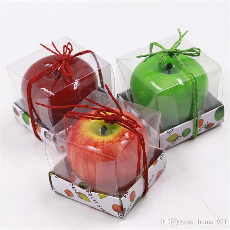 New Simulation Fruit Candles Apple Shaped Candle Scented Bougie Festival Atmosphere Romantic Party Decoration Christmas Eve Decor Candle