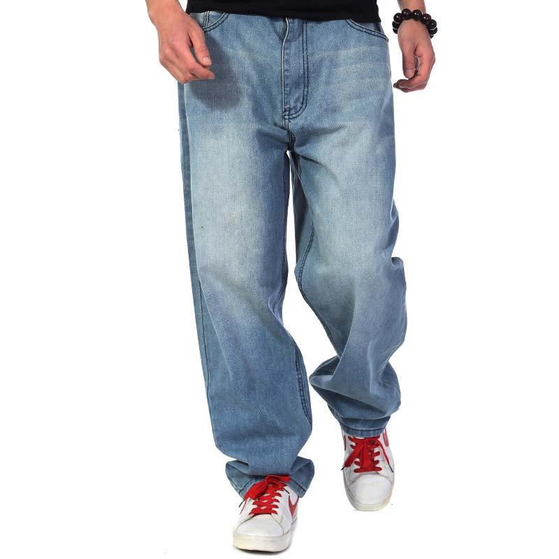 7d5f8646b4a Mens Fashion Loose Baggy Jeans Denim Pants Hip Hop Harem Jeans ...