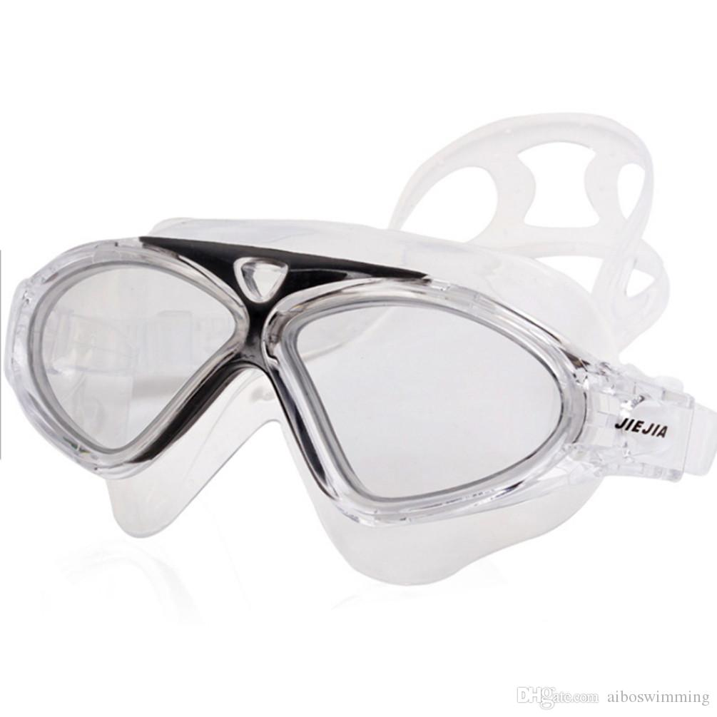 9179269eb3b 2019 The New Jiejia J8170 PLUS Glass Frame Swimming Goggles With  Professional Anti Fog UV Protection And Waterproof Silicone Myopia Glasses  From ...