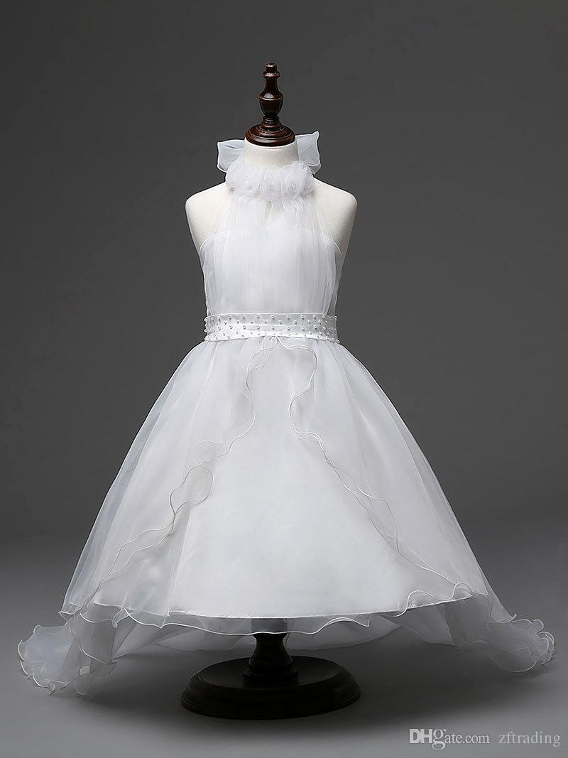 2c55dda4e23ba Satın Al Uzun Elbisesi Çocuk Dantel Prenses Kız Elbise Düğün Doğum Günü  Partisi Genç Kız Çocuklar Akşam Balo Elbiseler Kızlar Için 6 8 12 14 T, ...