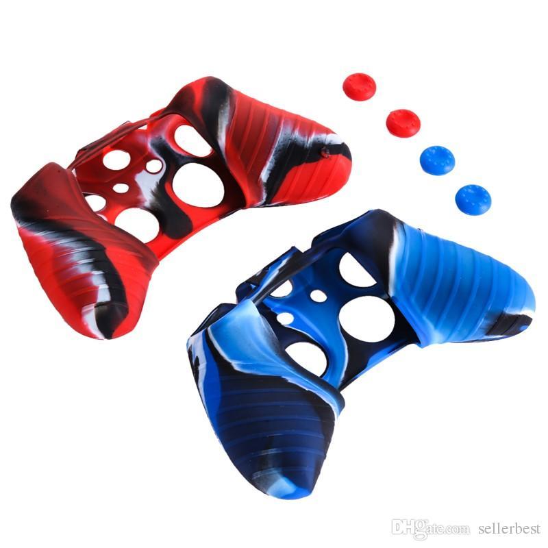 VODOOL Высококачественный проводной или беспроводной камуфляж Защитный мягкий силиконовый гель-чехол для кожи Xbox One Gamepads Крышка контроллера