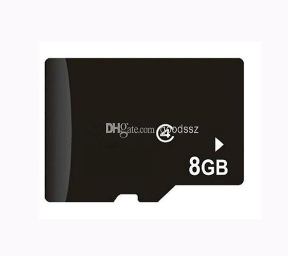 100 ٪ ريال 8GB بطاقة ذاكرة بطاقة كاملة القدرات TF بطاقة 8GB لا محول للهاتف الخليوي MP3 / 4/5 الكمبيوتر اللوحي