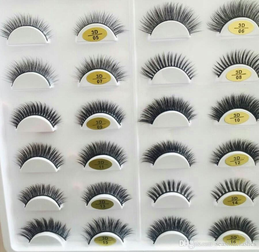 New Styles 3D Mink eyelashes Thick Cross Natural 3D Strip Eyelashes False Eyelash 3D Eyelash Extensions factory supply for sale