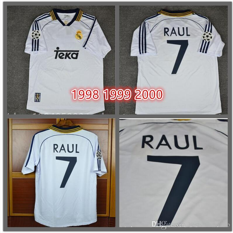 f8f33312f4d 2019 TOP 98 99 00 Real Madrid Retro Soccer Jersey RAUL Football Shirts 1998  1999 2000 Redondo Carlos Seedorf Vintage Classic From Bestsoccerclub