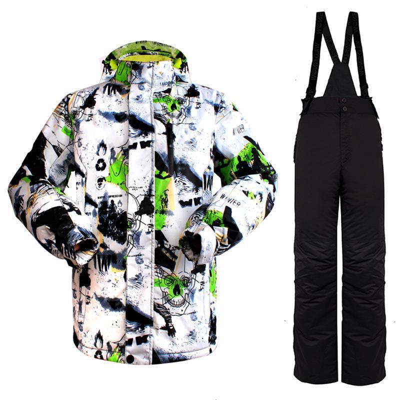 c2dc5c714d WILD SNOW Winter Ski Suit Men Outdoor Waterproof Windproof Snowboard ...