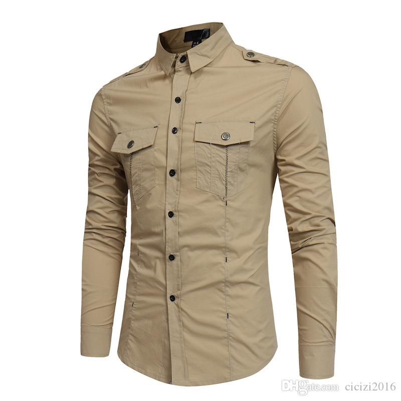 Casual Shirt for Men Button Oblique Traditional Dashiki Men Shirt Long Sleeve Slim Mens Shirts Turn Down Collar Camisas Masculinas M-16