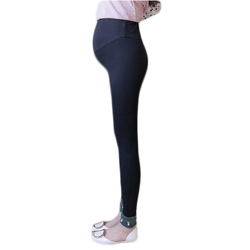 2053d3350 Compre Primavera Outono Leggings Maternidade De Cintura Alta Para Mulheres  Grávidas Gravidez Calças Leggings Roupas De Maternidade RQ108 De Xunqian