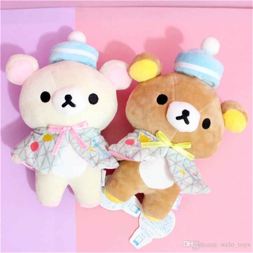 Japanese Rilakkuma Bears Stuffed Animals Toys Yellow Chicken Plush Stuffed Toys Kawaii Bear Doll Gifts for Kids Baby