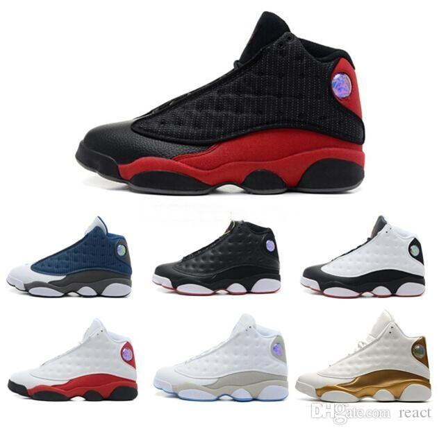 wholesale dealer 39164 a64a6 Acquista 13 13s Mens Scarpe Da Basket 3M GS Hyper Royal Italia Blu Bordeaux  Flints Chicago Bred DMP Grano Avorio Nero Gatto Uomo Scarpe Da Ginnastica  ...