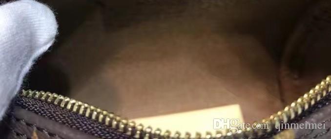 Hembra NANO cubo flor marrón mini bolsa de almohada bolso de hombro SPEEDY M61252 Mini bolso de cuero lindo bolso de hombro cruzado solo 16cm