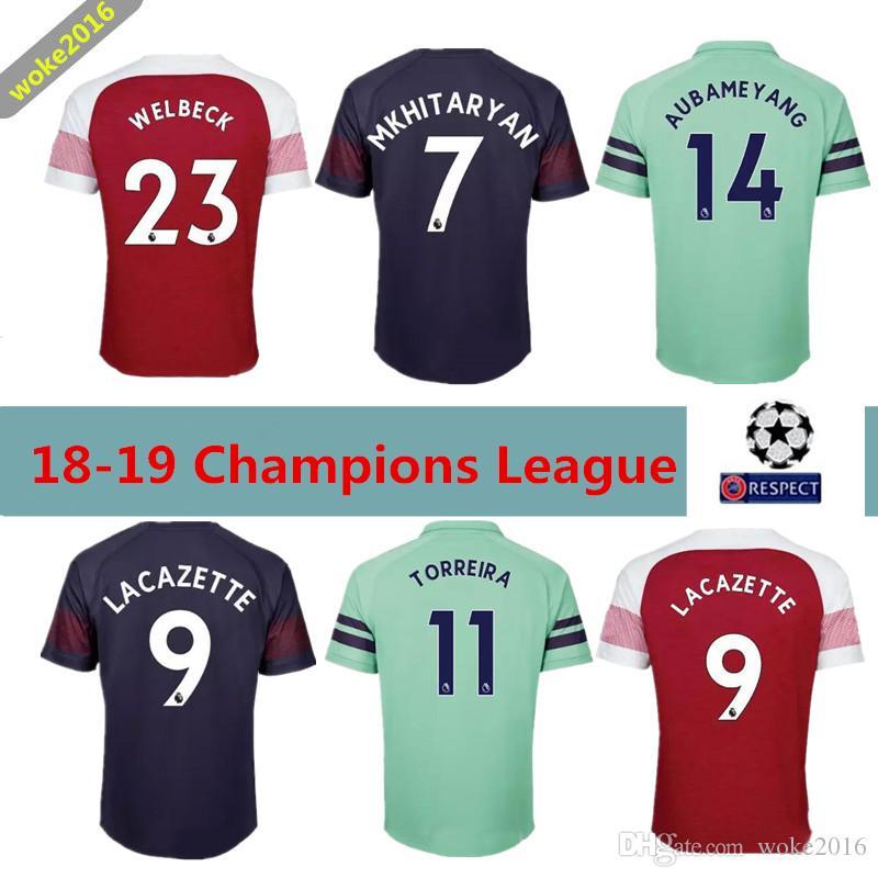 97d33891b ... store 2018 2018 2019 fc football arsenal home red jersey men 9  lacazette 14 aubameyang 10