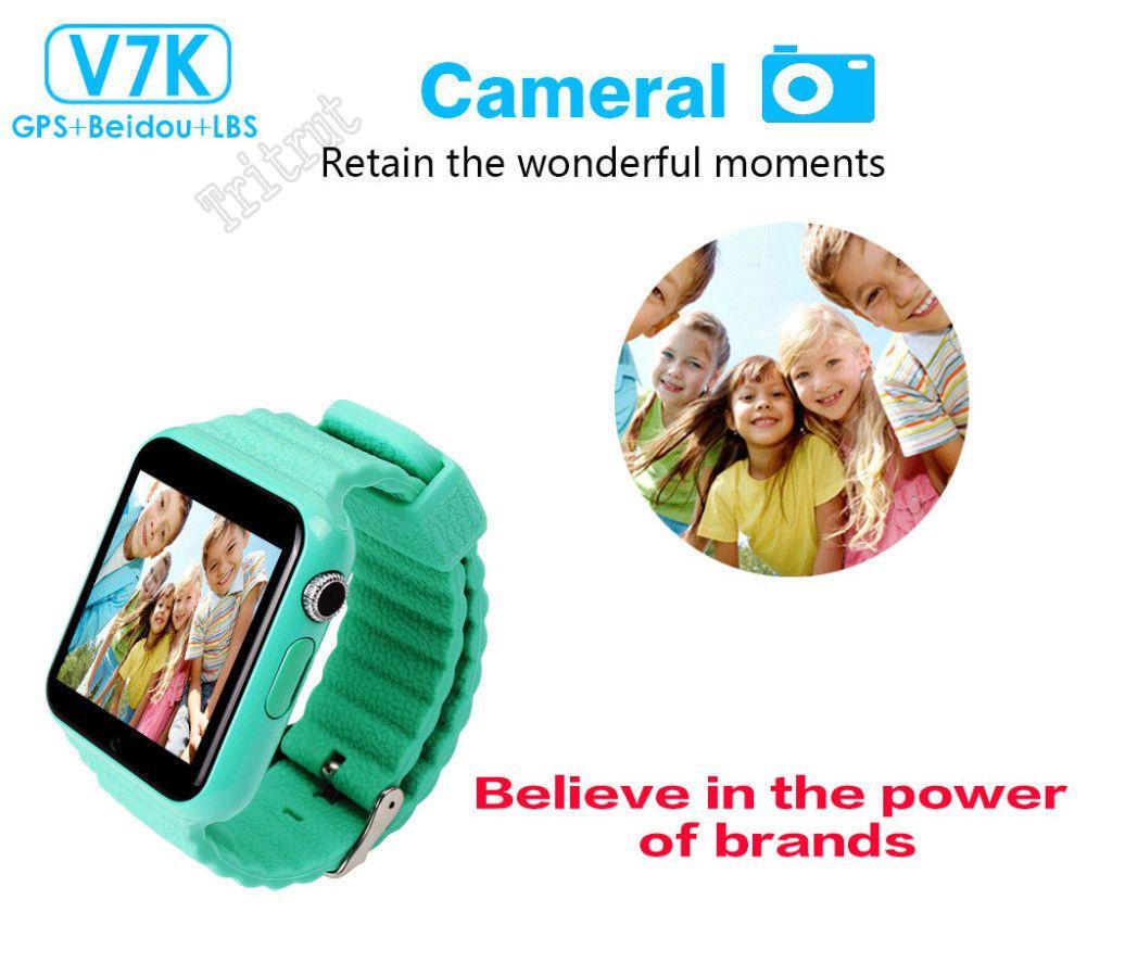 V7K Su Geçirmez Çocuklar GPS akıllı İzle çocuklar kamera ile Güvenli Anti-Kayıp Monitör Saatler / facebook SOS Çağrı Konumu Cihazı Tracker MQ5
