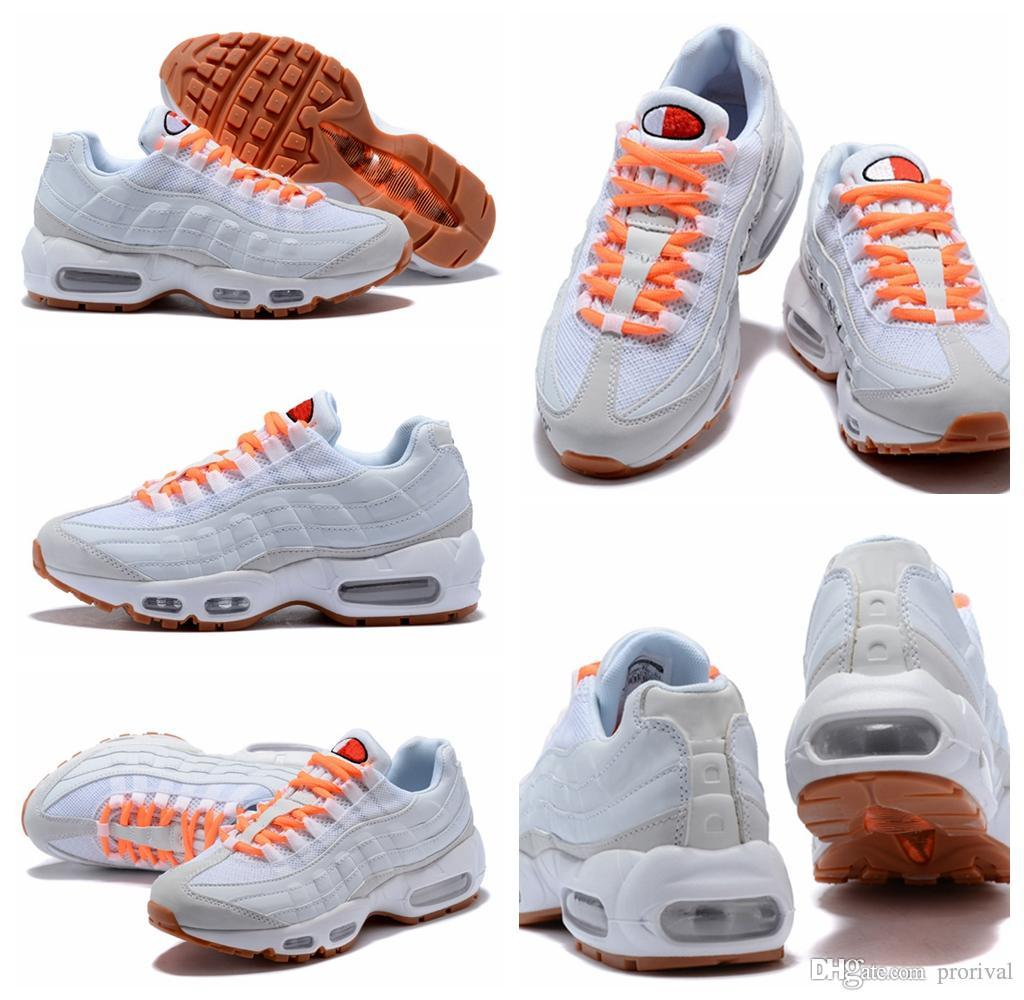 2018 Cheap Sale 95 Essential OG luxury designer Casual Shoes for Good quality 95s Black White Orange Men Women Athletic Sneakers Size 36-46 sale buy bGigIQ5vY