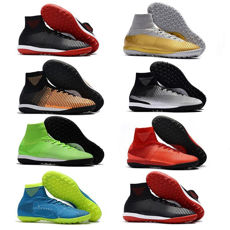 Compre 2019 Hombres Mercurial Superfly CR7 V TF Botas De Fútbol High Tokle  Best ACC Indoor Zapatos De Fútbol Al Aire Libre Neymar JR Phantom TF Soccer  Tacos ... 8b328f0c8f291