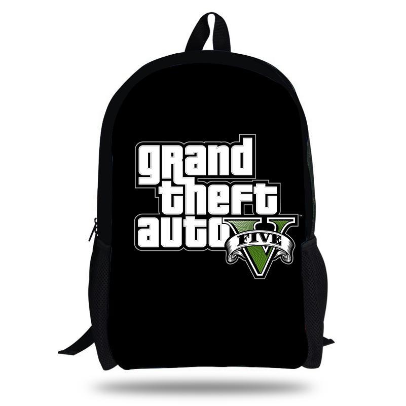 Acquista 2018 Più Nuovo Zaino Grand Theft Auto Gioco Stampa Bambini  Sacchetti Di Scuola Ragazzi Ragazze Adolescenti GTA 5 Gioco PC Zaini  Casuali A  46.84 ... 0efb8ff22e7e