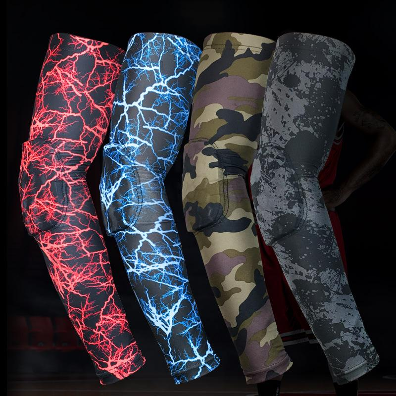 e206da5086 Men Honeycomb Elbow Pad High Elastic Gym Camouflage Sports Long ...